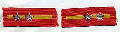 "WWII WW2 Japanese Army Sergeant ""Gunso"" Collar Tabs Pair"