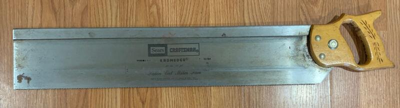 Craftsman #36184 26 Inch 11 Point Kromedge Satin Cut Miter Saw Back Saw