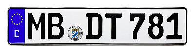 NEW European German License Plate for BMW VW Mercedes Porsche Audi