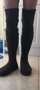 brand new ugg long knit boots - over knees