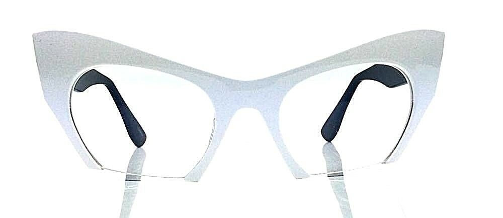 4e9c33fb79b8 ... Cut Off Lenses Semi Rimless GAFA Cat Eye Vintage Retro