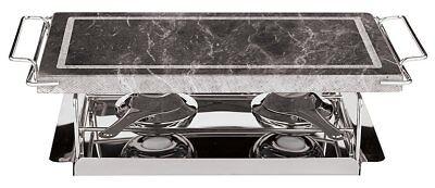 Paderno World Cuisine 17-Inch Stone Grill Set