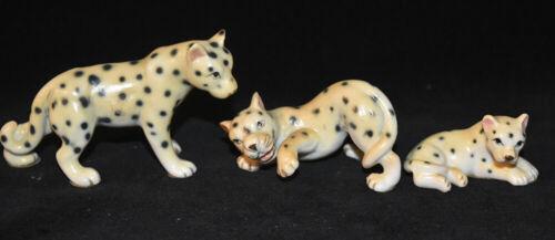 Japan Miniature Bone China Leopard Figurines