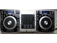 Numark NDX900 CDJ Decks/ Numark M4 mixer / Good working condition