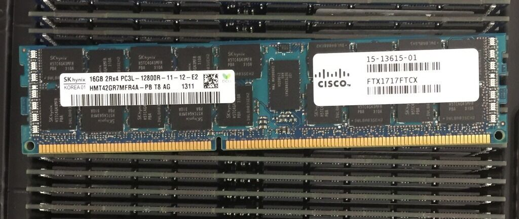 Memory 3rd Party Cisco UCS C200 M1 /& M2 Series Servers 1x8GB N01-M308GB2-L 8GB