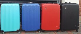 LUGGAGE LARGE EXPANDABLE RED/ORANGE/BLUE/BLACK 4 WHEELED SUITCASE