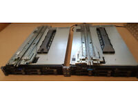 2 x Dell PowerEdge R710 Servers with rails and bezels