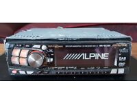 CAR HEAD UNIT ALPINE INA N333R SAT NAV DVD CD PLAYER 4x 45 AMPLIFIER AMP STEREO RADIO