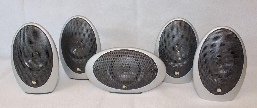 kef egg subwoofer. 5 x kef egg hts-1001 silver surround sound home cinema speakers kht 1005 kef egg subwoofer