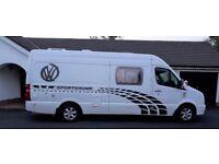 vw Volkswagen Crafter camper van amazingley converted = 4 berth kitchen,bathroom,living area etc...