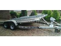 "BRIAN JAMES TWIN AXLE TILT BED RECOVERY CAR TRAILER ( 14' X 6'3"" BED) WITH WINCH"