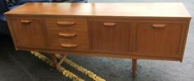 Retro Vintage style long sideboard 1970's 80's