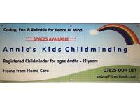 Annie's Kids Childminding