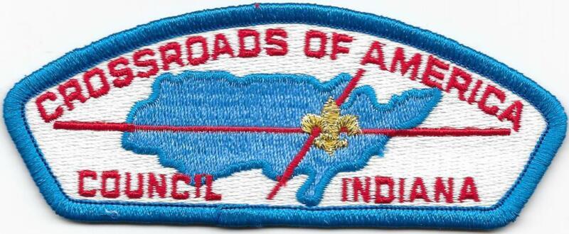 Crossroads of America Council Strip Plastic Back CSP SAP Boy Scouts BSA