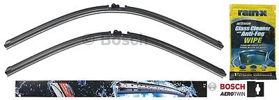 "Bosch Aerotwin Wiper Blade Set (26"" & 26"") & Rain X Glass Cleaner Wipe"