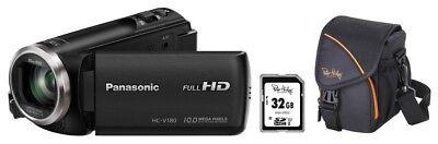 Panasonic HC-V180EG-K + Zubehörpaket ( 32GB + Tasche ) ! HC-V180 schwarz