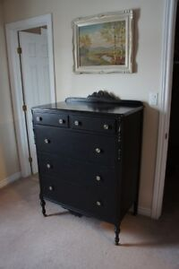 Black Dresser with Deccorative Knobs