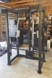 Smith Machine Cable crossover Half Rack pec deck lat