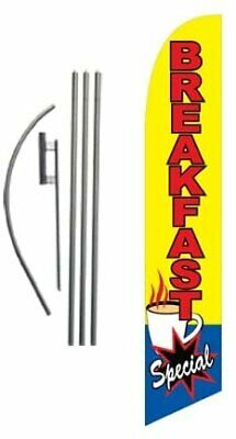 Breakfast Special Restaurant Advertising Feather Banner Swooper Flag Sign...