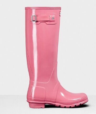 Pink Hunter Wellies Ladies Size 6 - perfect for UK festival season!