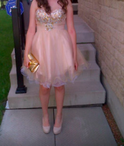 Gold Prom/Graduation Dress - Size 6