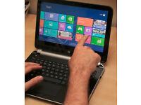 """HP Pavilion e-001sa, 11.6"""" Touchscreen Laptop, AMD A4,4GB RAM, 250GB - Silver"""