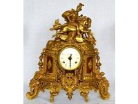 Figural Clock in the style of Louis XV