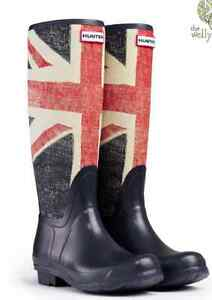Like New Union Jack Hunter Boots!