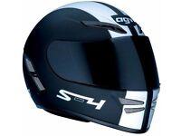 AGV S4 Black & Silver Motorbike Helmet // Large 59-60cm