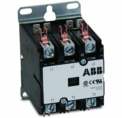 Abb Dp60c3p-1 60 Amp 3 Pole 120v Coil Definite Purpose Contactor
