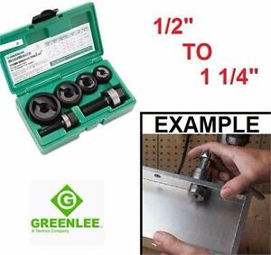 NEW GREENLEE MANUAL KNOCKOUT KIT SLUG-BUSTER 1/2 TO 1 1/4 CONDUIT HOLE PUNCHER PUNCHERS BORES BORE STEEL TOOLS 93671372