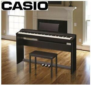 NEW CASIO DIGITAL PIANO KIT With Pedal Kit, Matching Stand, Piano Bench PRIVIA PX-160 Electronics Musical Instruments