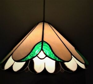 ANTIQUE  stained glass ceiling  or lamp shade