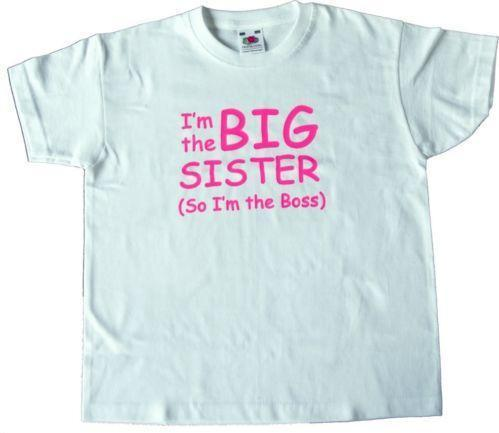 ff620573 T-Shirts, Tops & Shirts Im The Little Sister Personalized T-shirt Tees Girls  Clothing White ...