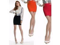 Black pleated mini skirt size 8
