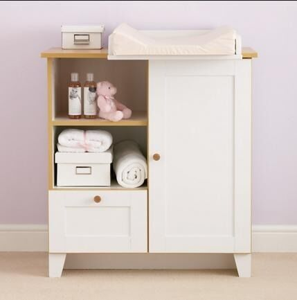 High Quality John Lewis Nouveau Changing Unit, Ivory In Excellent Condition