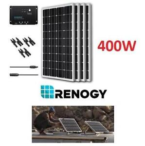 NEW RENOGY 400W SOLAR BUNDLE KIT KIT-BUNDLE400D 206851152 12V Monocrystalline solar panel