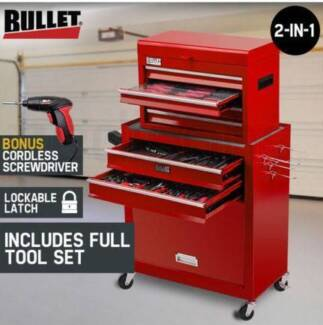 BULLET 1200 Piece Tool Kit Cabinet Trolley Chest Toolbox New