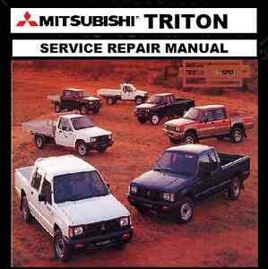 MITSUBISHI TRITON Early ME-MF-MH-MJ 1983-96 2WD-4WD  WORKSHOP REPAIR MANUAL CD