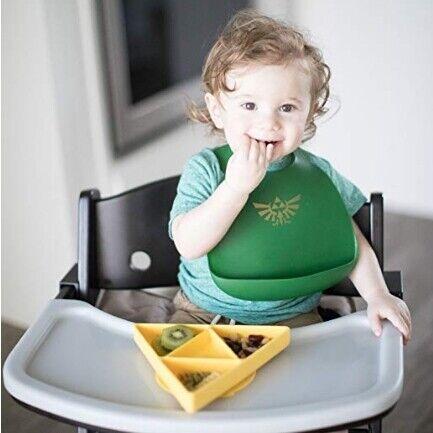 NEW Bumkins Silicone Zelda Grip Dish Bib Set 2 Pack - Yellow - $23.99