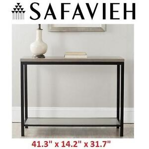 """NEW* SAFAVIEH FRENCH CONSOLE TABLE - 123901623 - AMERICAN HOME COLLECTION DENNIS 41.3""""x14.2""""x31.7"""" GREY"""