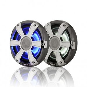 "Fusion Marine SG-FL65SPC 6.5"" 230 WATT Coaxial Speakers with LED"