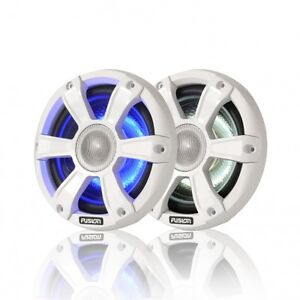 """Fusion Marine SG-FL65SPW 6.5"""" 230 WATT Coaxial Speakers with LED"""