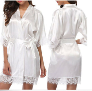 Brand new, never worn bridal party robes (white and pink)