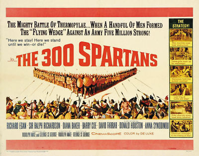 The 300 Spartans Richard Egan vintage movie poster #22 - The 300 Movie