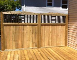 Pressure treated decks and fences