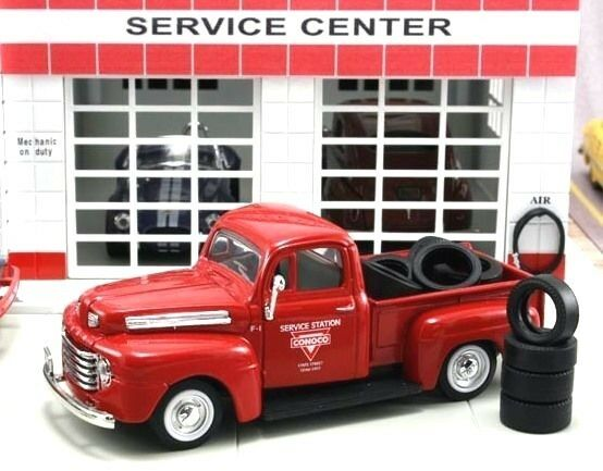 """NIB Diecast 1/43 1948 FORD F-1 PICK UP  Truck """"Conoco"""" with 10 Tires"""