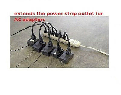5-Pack 1ft Premium Series AC Power Strip Outlet Extender / Saver - 5 UNITS