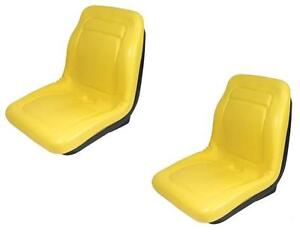 (2) New HIGH BACK Seats John Deere Gator XUV 850D / 4x2 HPX / 4x4 HPX / 6x4