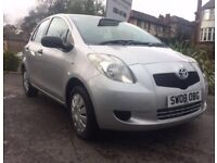 TOYOTA YARIS 1.0 2008 SILVER MANUAL 5DR**CHEAP TO RUN**